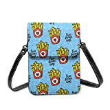 Guy Before Fries Leather Phone Purse Small Crossbody Bag