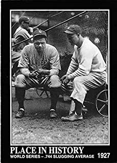 Babe Ruth Lou Gehrig baseball card 1993 BRSN #70 New York Yankees 1927 World Series