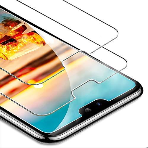 FUMUM Panzerglas für Huawei P20 Lite Folie, 5 mal Verstärkung Anti-Kratzen Gehärtetes Glas 9H HD Panzerglasfolie für Huawei P20 Lite Schutzfolie[Keine Bläschen][Anti Fingerabdruck] -2 Pack