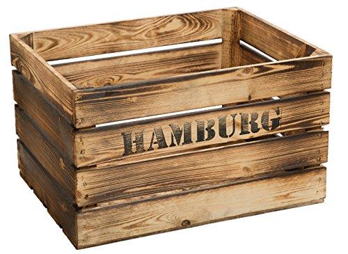 geflammte Massive Obstkiste 49 x 42 x 31cm / Apfelkiste/Weinkiste aus dem Alten Land (Hamburg)