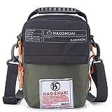 JAKAGO Women/Men Shoulder Bag Small Handbag Waterproof Waist bag Cellphone Pouch with Shoulder Strap for Sports Hiking Camping Outdoor Climbing Travel (Green)