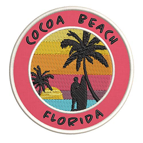 Cocoa Beach, Florida Surfing Spot Embroidered Premium Patch DIY Iron-on or Sew-on Decorative Badge Emblem Vacation Souvenir Travel Gear Clothes Appliques