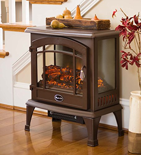 Dura Heat Portable Indoor Home Compact Electric Panoramic Quartz Infrared Heater 5000 BTU, Bronze Heater Infrared Space