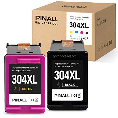 PINALL 2 Cartucho Compatible HP 304XL para HP Envy 5030 HP Envy 5032 5020 HP DeskJet 3720 3730 3732 3752 3755 3758 3760 Impresora (1 Negro / 1 Color)