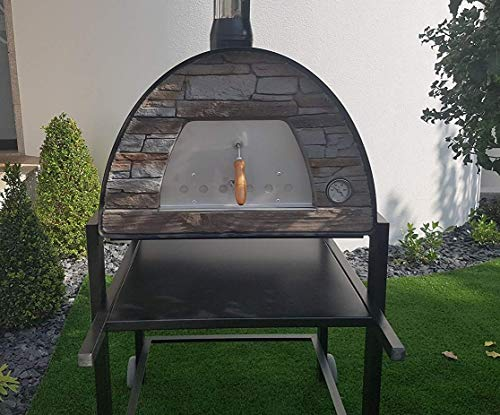 MAXIMUS Black Arena (Rustic Stone Effect) Wood-Fired Bread, Meat, Pizza Fish Outdoor Oven REAL WOOD REAL FLAVOR Escape The Indoors ™ STAND NOT INCLUDED