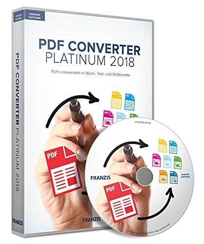 FRANZIS PDF Converter Platinum 2018|kinderleicht per Drag and Drop|incl. Stapelverarbeitung|zeitlich unbegrenzt|Für Windows 10/8.1/8/7|Disc|Disc