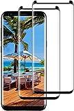 DOSNTO 2-Pack Cristal Templado para Samsung Galaxy S9 Plus, Protector de Pantalla [Negro] Cobertura Completa, Premium 9H Definición, 3D Curvado, Funda Compatible Cristal Templado con Anti-Burbujas