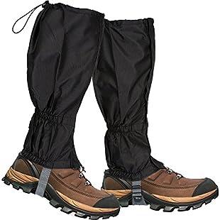 Lictin 1 Pair Hiking Gaiters Leg Gaiters SnowGaiters Mountain Snow Legging Gaiters LightweightHikingGaiters Waterproof Windproof Durable Gaiters Outdoor Walking Climbing Legging Gaiter:Maskedking
