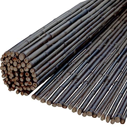 Windhager Sichtschutzmatte Ontake Bambusmatte Sichtschutz-Zaun Windschutz, 180 x 180 cm, schwarz, 06509