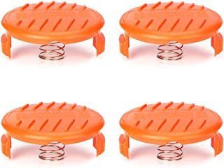 OFPOW Trimmer Replacement Spool Cap & Spring Compatible with Black+Decker, 4 Pack