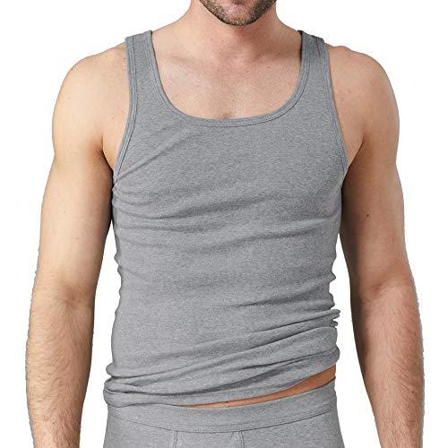 Kumpf Body+Fashion Kumpf 99603011 Herren Unterhemd 2er Pack ohne Seitennähte 100% Bio-Baumwolle, Groesse 8, 2X grau/meliert