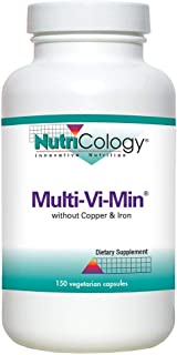 NutriCology Multi-Vi-Min Without Copper and Iron 150 Vegetarian Capsules