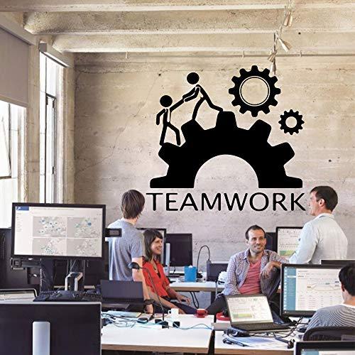 Unity team work calcomanías mural extraíble poster office company calcomanías de pared decoración de la sala de estar pegatinas de pared otro color 43x47cm