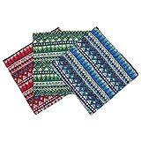 Artibetter Funda de almohada de lino de 3 piezas, funda de...
