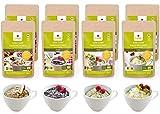 Lizza Low Carb Tassenkuchen Probierset   Ohne Zuckerzusatz   Bis zu 63% weniger Kohlenhydrate   Ballaststoffreich   Bio. Glutenfrei. Vegan. Keto. Laktosefrei   4 Geschmacksrichtungen   8 Tassenkuchen