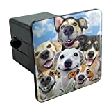 Graphics and More Dogs Smile Selfie Retriever German Shepherd Tow Trailer Hitch Cover Plug Insert