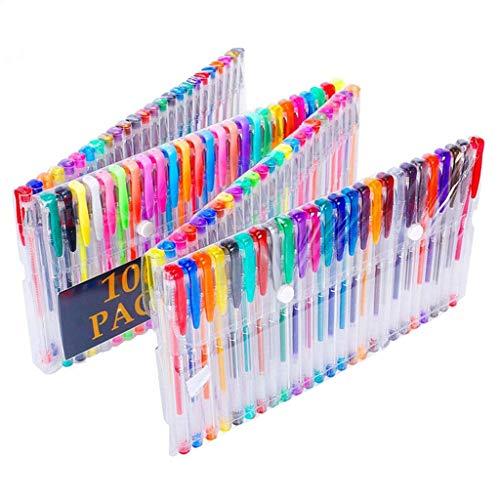 Juego de bolígrafos de Gel de 100 Colores Libros de Colorear para Adultos, marcadores de Dibujo y Escritura de Arte