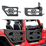 JROAD Compatible with Tubular Doors Jeep Wrangler 07-18 JK JKU Rubicon Sahara Sport 4-Door W/Side View Mirrors Soldier LOGO