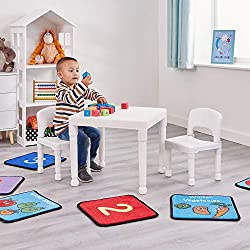 TABLE AND CHAIRS Liberty House Toys Children Plastic White Table and Chairs EASY-TO-ASSEMBLE White Table and Chairs is easy-to-assemble set Ideal piece for children ages 2+ Supplied flat packed IDEAL FOR CHILDREN Great for picnics activities arts and...