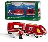 BRIO World - 33746 - Train de Voyageur Rechargeable - Train électrique avec cable USB - Pour circuit de train en bois - Jouet pour garçons et filles dès 3 ans