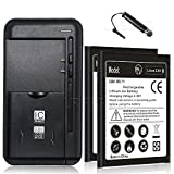 (ZTE Overture 3 Combo Pack) Extended Slim Li_ion 2200mAh Battery Universal Intelligent USB Travel Charger Stylus for ZTE Overture 3 Z851M Cricket Phone