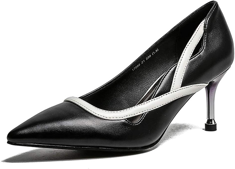 Rainbot Women Pointed Toe High Heel Slip on Stiletto Pumps Wedding Party Basic shoes
