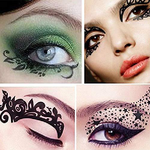 fat-catz-copy-catz Tatouage Temporaire Maquillage Paupière Coloré Différents Motifs x 5 Paires