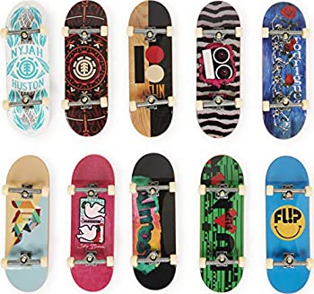 Tech Deck DLX Pro 10-Pack of Collectible Fingerboards For Skate Lovers Age 6 and up