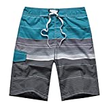 APTRO(アプトロ)メンズ サーフパンツ ショーツ メッシュインナーサポータ付き 水着 海水パンツ 海パン オシャレ ゴムウエスト サーフトランクス #1506ブルー S