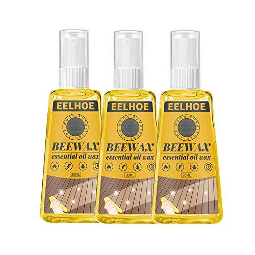 Bienenwachs Möbelpolitur-Spray, Holz-Würz-Bienenwachs für Möbel, Holzmöbel, Reiniger und Politur für Bodentische, Stühle, Schränke für Heimmöbel zum Schutz und Pflegen, 3 Stück