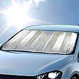 Jumbo Double Bubble Front Windshield Shade Window Shade- Accordion Folding Auto Sunshade for Car Truck SUV-Blocks UV Rays Sun Visor Protector-Keeps Your Vehicle Cool 67 x 28 in
