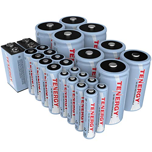 : Tenergy High capacity NiMH Rechargeable 26-cell battery package: 8AA/8AAA/4C/4D/2 9V