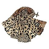 Gespout Pañuelos Bufanda para Mujer de Otoño Invierno Bufanda de Cómodo Cálido Scarves Gasa Accesorios de Disfraces Encanto Dama para Regalo de Cumpleaños Diseño Simple Patrón animal 1pcs