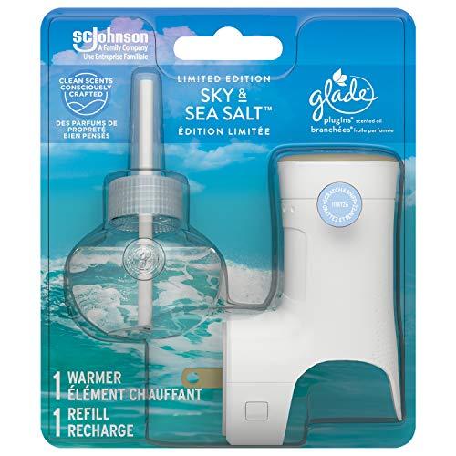 Glade spring Plugins Scented Oil Air Freshener starter - Sky & Sea Salt 1 count