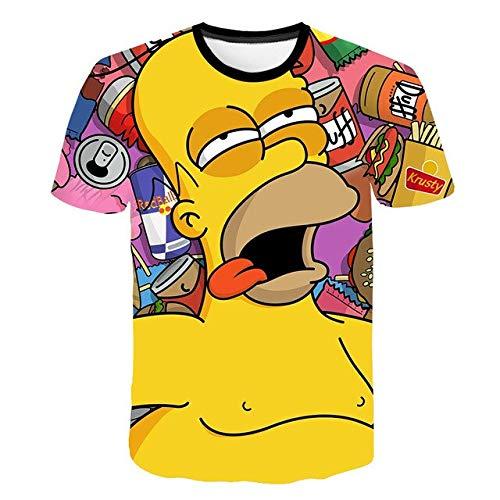 Kinder Jungen und Mädchen 3D Cartoon Cartoon Spaß T-Shirt Sommer Mode Persönlichkeit kurze Ärmel-a83-13T