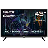 GIGABYTE(ギガバイト) 43型 ゲーミング液晶ディスプレイ(144Hz/4K UHD 3840×2160/1ms (MPRT)/VA/ノングレア/Display port 1.4 (DSC) /HDMI 2.1)AORUS Gaming Monitor AORUS FV43U