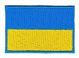 Bestellmich Ukraine Flagge Klein Aufnäher Bügelbild Größe 4,7 x 3,2 cm