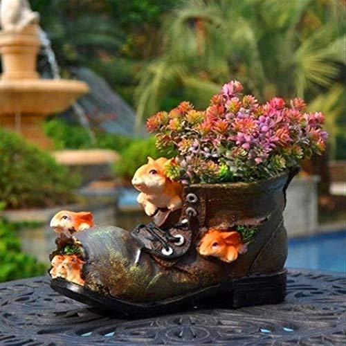 CMMWA Home Decoration Sculpture Flower Pot Resin Rabbit Shoes Plant Flower Garden Decoration Outdoor Courtyard Cartoon Fleshy Flower Pot Balcony Decor for Pots