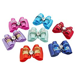 PET SHOW Bling Rhinestone Pet Hair Bows