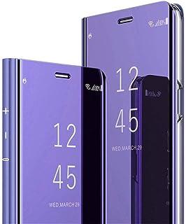 b160a463aaa COTDINFOR Huawei Honor 9 Lite Funda Espejo Ultra Slim Ligero Flip Funda  Clear View Standing Cover