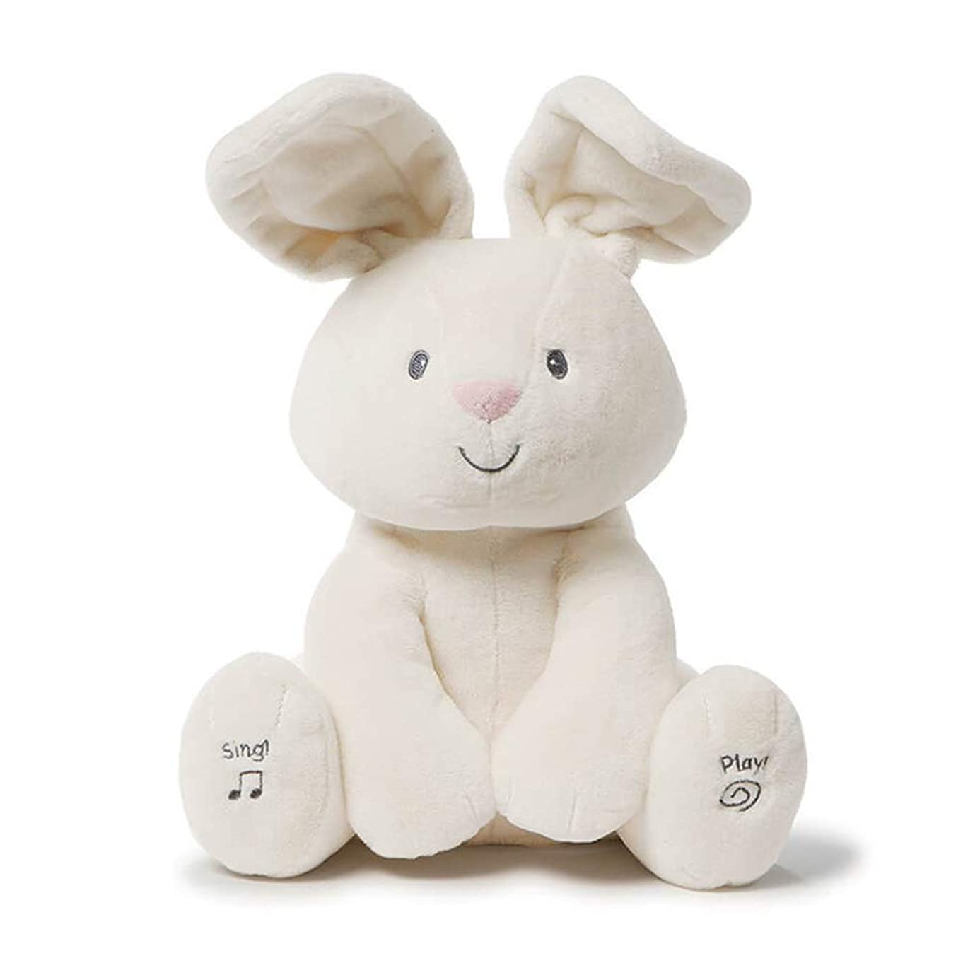 Gund Baby Flora The Bunny Animated Plush Stuffed Animal Toy, Cream, 12
