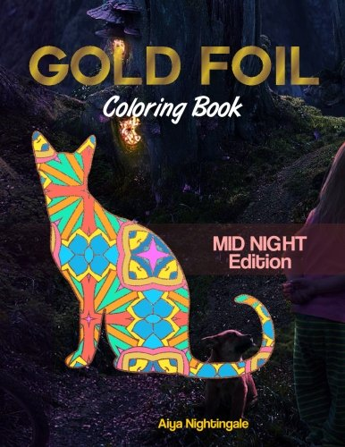 Gold Foil Coloring Book: (Midnight Edition)