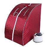 Mini sauna mobile a vapore Sauna domestica Cabina termica Sauna per sedersi Cabina sauna 1200W 220V 80 * 70 * 98cm (rosso, A)