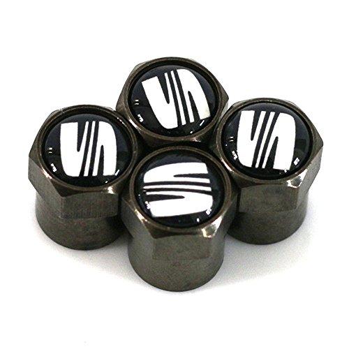 4 x Ventilkappen für Seat Reifen Autoventil