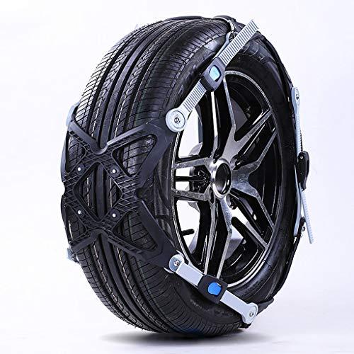 Cadenas antideslizantes de neumáticos de nieve de Cadenas de nieve universales Fácil de montar Cadena de nieve del neumático...