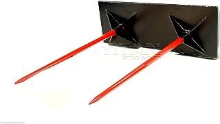 Titan Attachments Skidsteer Dual Hay Spear bale spike skid steer case kubota (HAY MP)