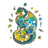 Mumaya Rompecabezas de Madera, Rompecabezas de dragón Volador Multicolor, Rompecabezas de Madera Duradero con Forma de Animal, Regalo de cumpleaños para niños y niñas