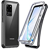 Temdan for Samsung Galaxy S20 Ultra Case,Without Built-in Screen Protector Heavy Duty Protection Shockproof Slim Case for Samsung Galaxy S20 Ultra 5G 6.9 inch 2020-Clear/Black