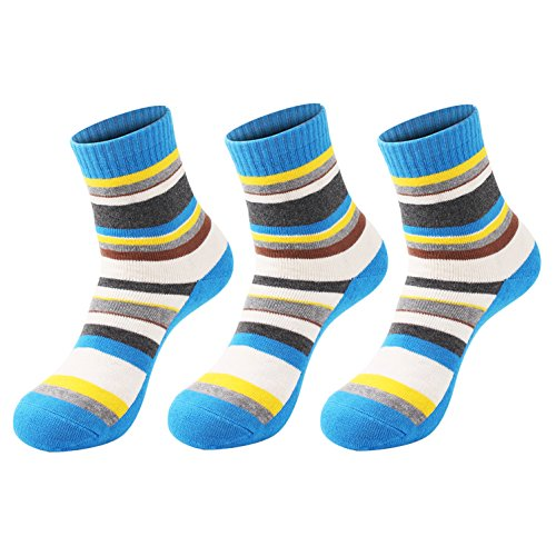 3 Pairs Women Walking Hiking Socks - No Blister, Breathable, Warm, Moisture Wicking, Full Terry Cushion Inside - for Outdoor Sports Running Trekking Cycling Camping Golf Gym - Ladies UK Size 3-7, Blue