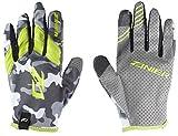 Zanier Erwachsene Shredder Handschuhe, camo Limette, XXL